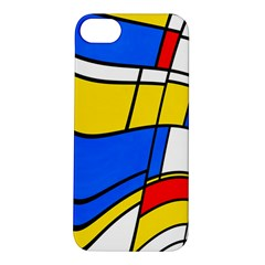 Colorful Distorted Shapes Apple Iphone 5s Hardshell Case by LalyLauraFLM