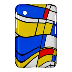 Colorful Distorted Shapes Samsung Galaxy Tab 2 (7 ) P3100 Hardshell Case  by LalyLauraFLM