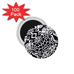 70 s Wallpaper 1 75  Button Magnet (100 Pack)