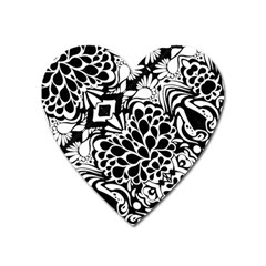 70 s Wallpaper Magnet (heart) by KirstenStar