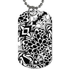 70 s Wallpaper Dog Tag (one Sided)
