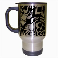 70 s Wallpaper Travel Mug (silver Gray)