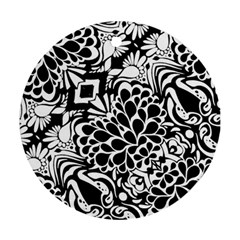 70 s Wallpaper Round Ornament (two Sides)
