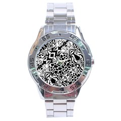 70 s Wallpaper Stainless Steel Watch
