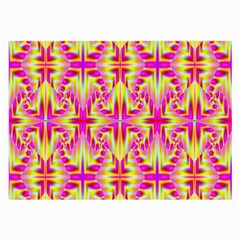 Pink And Yellow Rave Pattern Glasses Cloth (large, Two Sided) by KirstenStar