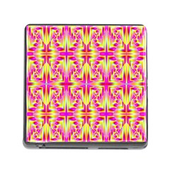 Pink And Yellow Rave Pattern Memory Card Reader With Storage (square) by KirstenStar