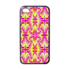 Pink And Yellow Rave Pattern Apple Iphone 4 Case (black) by KirstenStar