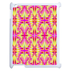 Pink And Yellow Rave Pattern Apple Ipad 2 Case (white) by KirstenStar