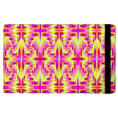 Pink And Yellow Rave Pattern Apple Ipad 3/4 Flip Case by KirstenStar
