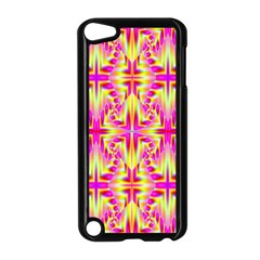 Pink And Yellow Rave Pattern Apple Ipod Touch 5 Case (black) by KirstenStar