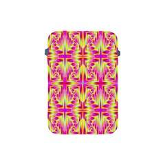 Pink And Yellow Rave Pattern Apple Ipad Mini Protective Sleeve by KirstenStar
