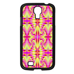 Pink And Yellow Rave Pattern Samsung Galaxy S4 I9500/ I9505 Case (black) by KirstenStar