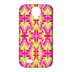 Pink And Yellow Rave Pattern Samsung Galaxy S4 Classic Hardshell Case (pc+silicone) by KirstenStar
