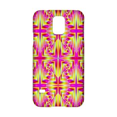 Pink And Yellow Rave Pattern Samsung Galaxy S5 Hardshell Case  by KirstenStar