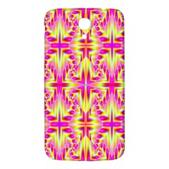 Pink And Yellow Rave Pattern Samsung Galaxy Mega I9200 Hardshell Back Case