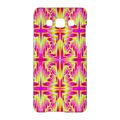 Pink And Yellow Rave Pattern Samsung Galaxy A5 Hardshell Case  by KirstenStar