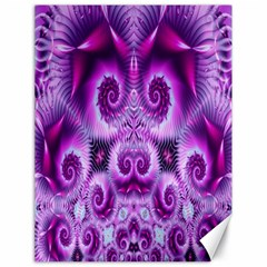Purple Ecstasy Fractal Canvas 18  X 24  by KirstenStar