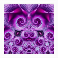 Purple Ecstasy Fractal Medium Glasses Cloth by KirstenStar