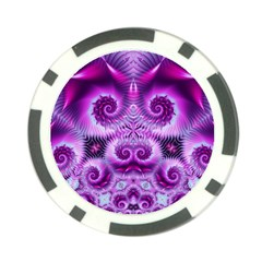 Purple Ecstasy Fractal Poker Chip Card Guard by KirstenStar