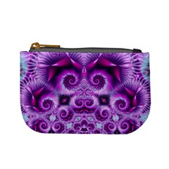 Purple Ecstasy Fractal Mini Coin Purse by KirstenStar
