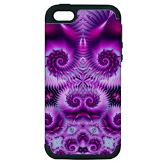 Purple Ecstasy Fractal Apple Iphone 5 Hardshell Case (pc+silicone) by KirstenStar
