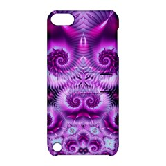 Purple Ecstasy Fractal Apple Ipod Touch 5 Hardshell Case With Stand by KirstenStar
