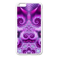 Purple Ecstasy Fractal Apple Iphone 6 Plus Enamel White Case by KirstenStar