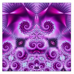 Purple Ecstasy Fractal Large Satin Scarf (square) by KirstenStar
