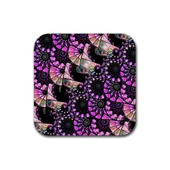 Hippy Fractal Spiral Stacks Drink Coasters 4 Pack (square) by KirstenStar
