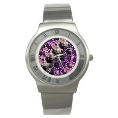 Hippy Fractal Spiral Stacks Stainless Steel Watch (slim) by KirstenStar