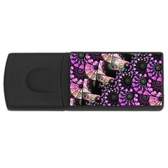 Hippy Fractal Spiral Stacks 4gb Usb Flash Drive (rectangle) by KirstenStar