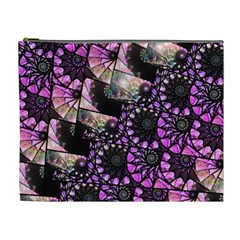 Hippy Fractal Spiral Stacks Cosmetic Bag (xl) by KirstenStar