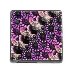 Hippy Fractal Spiral Stacks Memory Card Reader With Storage (square) by KirstenStar