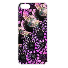 Hippy Fractal Spiral Stacks Apple Iphone 5 Seamless Case (white) by KirstenStar