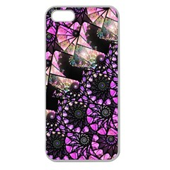 Hippy Fractal Spiral Stacks Apple Seamless Iphone 5 Case (clear) by KirstenStar