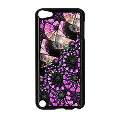 Hippy Fractal Spiral Stacks Apple Ipod Touch 5 Case (black) by KirstenStar