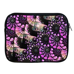 Hippy Fractal Spiral Stacks Apple Ipad Zippered Sleeve by KirstenStar