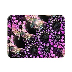 Hippy Fractal Spiral Stacks Double Sided Flano Blanket (mini) by KirstenStar