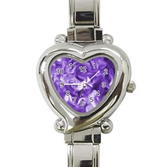 Lavender Smoke Swirls Heart Italian Charm Watch  by KirstenStar