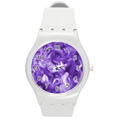 Lavender Smoke Swirls Plastic Sport Watch (medium)