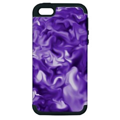 Lavender Smoke Swirls Apple Iphone 5 Hardshell Case (pc+silicone) by KirstenStar