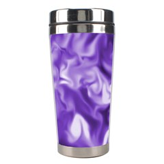 Lavender Smoke Swirls Stainless Steel Travel Tumbler