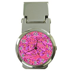 Bright Pink Confetti Storm Money Clip With Watch by KirstenStar
