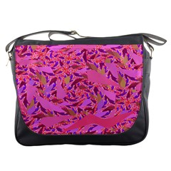 Bright Pink Confetti Storm Messenger Bag by KirstenStar