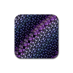 Dusk Blue And Purple Fractal Drink Coasters 4 Pack (square) by KirstenStar