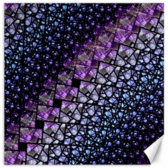 Dusk Blue And Purple Fractal Canvas 20  X 20  (unframed) by KirstenStar