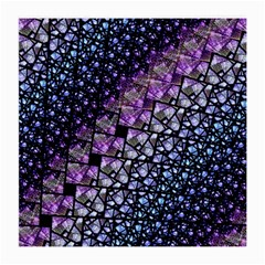 Dusk Blue And Purple Fractal Glasses Cloth (medium) by KirstenStar