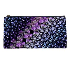 Dusk Blue And Purple Fractal Pencil Case by KirstenStar