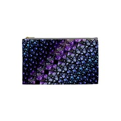 Dusk Blue And Purple Fractal Cosmetic Bag (small) by KirstenStar