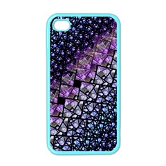 Dusk Blue And Purple Fractal Apple Iphone 4 Case (color) by KirstenStar